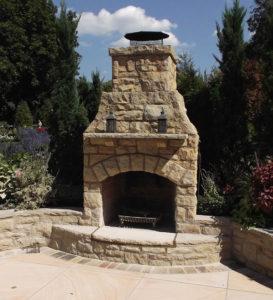 brick masonry fireplace