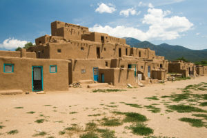 Pueblo Buildings in Taos, New Mexico