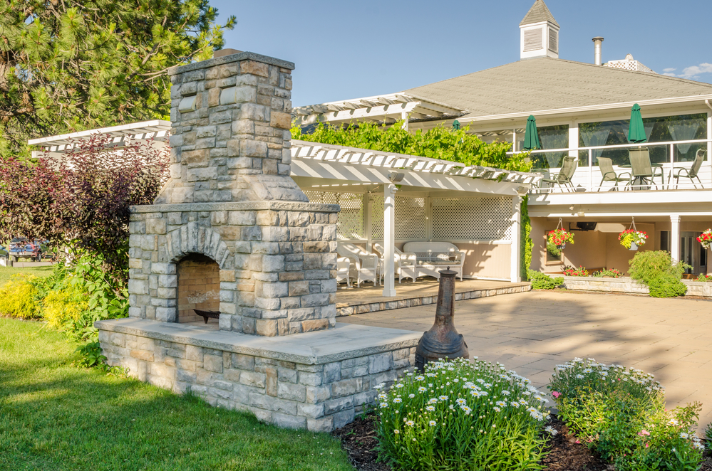 Outdoor Fireplace - pittsburgh-masonry